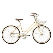 700Bike 百花女式优雅通勤 城市公路自行车 智能单车 自动变速 GPS定位 凝脂白 M(150-162)