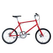 700Bike 后街MINI 个性变速小轮城市公路自行车小巧轻便 五色可选 红色 单速版