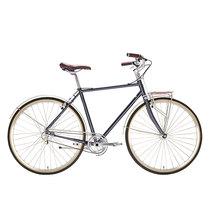 700Bike 美术馆 优雅通勤 城市公路自行车 智能单车 自动变速 GPS定位 石砚灰 M产品图片主图