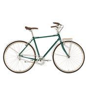 700Bike 美术馆 优雅通勤 城市公路自行车 智能单车 自动变速 GPS定位 蟒袍绿 XL