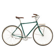 700Bike 美术馆 优雅通勤 城市公路自行车 智能单车 自动变速 GPS定位 蟒袍绿 L
