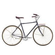 700Bike 美术馆 优雅通勤 城市公路自行车 智能单车 自动变速 GPS定位 石砚灰 L