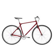 700Bike 后街 城市公路自行车 男女款智能单车 自动变速 GPS防盗 五色可选 大地棕 XL(181-190)产品图片主图