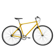 700Bike 后街 城市公路自行车 男女款智能单车 自动变速 GPS防盗 五色可选 金秋黄 L(173-180)