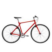 700Bike 后街 城市公路自行车 男女款智能单车 自动变速 GPS防盗 五色可选 火山红 M(163-172)