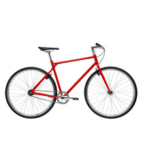 700Bike 后街 城市公路自行车 男女款智能单车 自动变速 GPS防盗 五色可选 火山红 M(163-172)产品图片主图