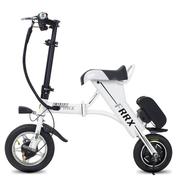 法克斯 Mini折叠电动自行车锂电电动滑板车成人迷你单车便携时尚助力车代步车代驾 白色30公里