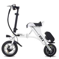 法克斯 Mini折叠电动自行车锂电电动滑板车成人迷你单车便携时尚助力车代步车代驾 白色30公里产品图片主图