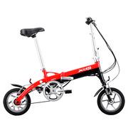 喜德盛 折叠迷你电动车 mini denpo 超轻 电动自行车 锂电池 电动车 36V 迷你3 红色  12寸