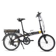 smartmotion 新西兰 e-20 电动自行车锂电池 折叠电动自行车 变速助力自行车 20寸 棕色