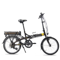 smartmotion 新西兰 e-20 电动自行车锂电池 折叠电动自行车 变速助力自行车 20寸 棕色产品图片主图
