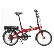 smartmotion 新西兰 e-20 电动自行车锂电池 折叠电动自行车 变速助力自行车 20寸 红色