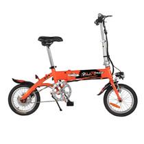 台铃  电动自行车 36V锂电14寸助力车铝合金代驾车 TDT158Z小钰铃阳光橙产品图片主图