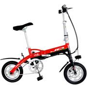 JQ 悠骑 12寸迷你折叠电动自行车 超轻锂电动车折叠车悠美男女款