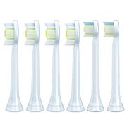 飞利浦 HX6066/05钻石亮白型声波震动牙刷头标准型6支装适用牙刷HX9362HX9322HX9332