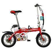 永久 电动自行车14吋铝合金车架 48V10Ah成人迷你可折叠电动自行车 助力车代步车车酷威 大红色 14吋