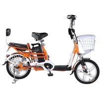 台铃 2016新款小清铃二代16寸电动自行车 48V锂电电动车成人助力车 自带USB手机充电 阳光橙产品图片主图