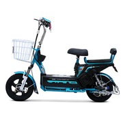 小刀 电动车 新款48V20AH滑板电动自行车  双人代步踏板车金钥匙 哑光金属蓝绿