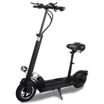 阿尔郎 电动滑板车成人代驾折叠电动车 黑色-豪华版(续航35-50KM)带座椅款产品图片主图