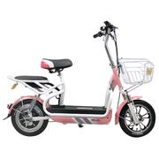 新日 电动车 自行车 时尚电动自行车48V电瓶车新款滑板车电单车 灵诺plus系列 芭比粉