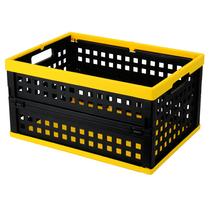 爱丽思 带盖折叠筐收纳筐 折叠箱OC-28L黄/黑产品图片主图