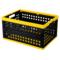 爱丽思 带盖折叠筐收纳筐 折叠箱OC-28L黄/黑产品图片1