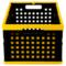 爱丽思 带盖折叠筐收纳筐 折叠箱OC-28L黄/黑产品图片3
