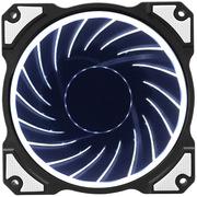 乔思伯 FR-101炫光白 (引擎涡轮扇叶/12CM/LED发光风扇/主板3PIN接口+电源D型口接口)