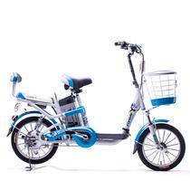 永久 电动车 foreve天能锂电车 朗动 16吋锂电车 48V10AH 锂电池电动自行车 浅蓝色产品图片主图