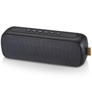 山水 T16无线蓝牙音箱手机便携小音响收音机插卡低音炮电脑小钢炮  黑色