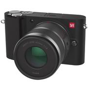 小蚁 微单相机双镜套装黑色 型号M1 双镜头12-40mmF3.5-5.6, 42.5mmF1.8套装 可换镜头式智能相机