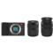 小蚁 微单相机双镜套装黑色 型号M1 双镜头12-40mmF3.5-5.6, 42.5mmF1.8套装 可换镜头式智能相机产品图片3