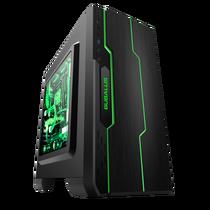 大水牛 潘多拉 黑色 MINI机箱(支持ATX主板/支持双水冷排/七彩呼吸灯/多硬盘支持/U3)产品图片主图