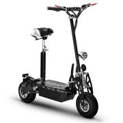 希洛普 电动滑板车成人电动车二轮代步车代驾车 可折叠带座椅电动车迷你摩托车电瓶车越野车 钻石款黑色36V500W带链条版