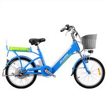 喜德盛 传说9号  电动车48V/9AH锂电自行车铝合金20/24寸电动自行车 浅蓝色 24寸产品图片主图