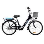 喜德盛 传说9号 电动车48V/9AH可抽取式锂电池20/24寸铝合金双人电单车 电动自行车 24寸 深蓝色