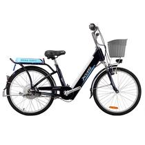 喜德盛 传说9号 电动车48V/9AH可抽取式锂电池20/24寸铝合金双人电单车 电动自行车 24寸 深蓝色产品图片主图