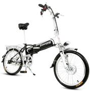 哥得圣 智能电动车自行车 锂电池电动单车二轮代步车轻便48V电瓶车 迷你折叠助力变速电动单车 20寸至尊版36V