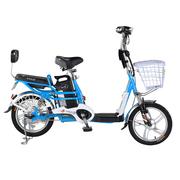 台铃 2016新款小清铃二代16寸电动自行车 48V锂电电动车成人助力车 自带USB手机充电 浅蓝色