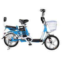 台铃 2016新款小清铃二代16寸电动自行车 48V锂电电动车成人助力车 自带USB手机充电 浅蓝色产品图片主图