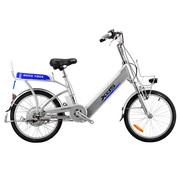 喜德盛 锂电自行车铝合金20/24寸传说9号 电动自行车 银色 24寸