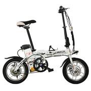 永久 电动自行车14吋铝合金车架 48V10Ah成人迷你可折叠电动自行车 助力车代步车车酷威 白色