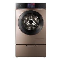 美的 MD120-1617WIDQCG 12公斤变频洗烘一体滚筒洗衣机(玫瑰金) 智能APP控制 ATC全时净态产品图片主图