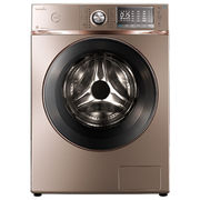 美的 MG100-1617WIDQCG 10公斤变频滚筒洗衣机(玫瑰金) 智能APP控制 FCS快净智能系统