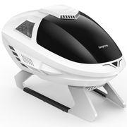 鑫谷 EDI艾迪机箱 白色(炫酷战机造型/兼容MATX主板 标准显卡 ATX大电源/支持12cm风扇)