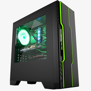 大水牛 潘多拉PLUS黑色机箱(支持ATX主板/支持双水冷排/七彩呼吸灯/多硬盘支持/U3)