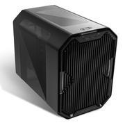 安钛克 CUBE 黑色 ITX水冷机箱 (EK定制/3mm铝材/支持240水冷/RGB变换/支持长显卡)