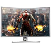 技讯(GVNXUHI) JXQ3208 31.5英寸曲面办公娱乐一体机电脑(酷睿i7-2620M 2G独显 4G内存 120G固态 无线键鼠WIFI)银灰色