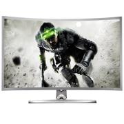 技讯(GVNXUHI) JXQ3205 31.5英寸曲面办公娱乐一体机电脑(酷睿i5-2520M 集显 4G内存 120G固态 无线键鼠 WIFI)银白色