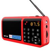 先科 N-520 收音机插卡音箱 音响便携式迷你音乐播放器老人小音响低音炮广场舞老年随身听 红色